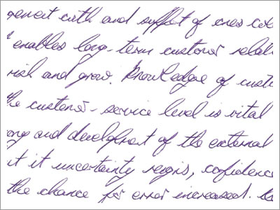 Image showing anonymous handwriting sample from a male.