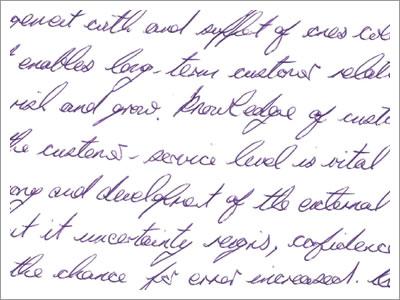 Handwriting analysis applications