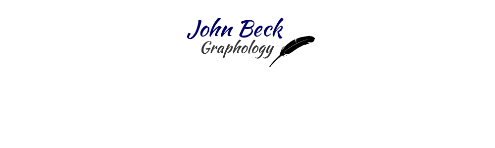 Slideshow 6: John Beck Graphology. Expert handwriting analysis for businesses and individuals.